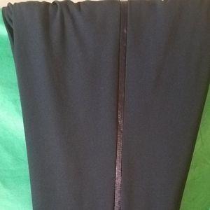Black wide leg slacks with it